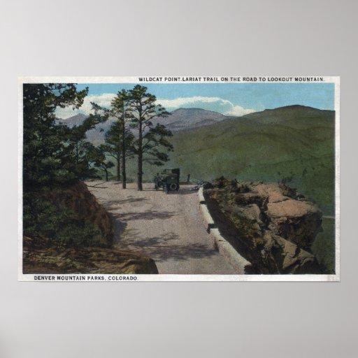 Parque de la montaña de Denver, CO - lazo salvaje  Posters