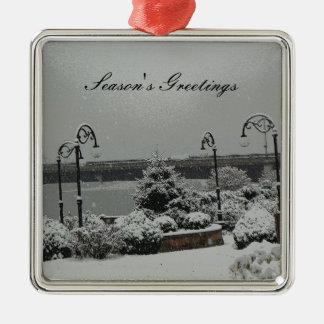 Parque de la orilla del ornamento adorno de navidad