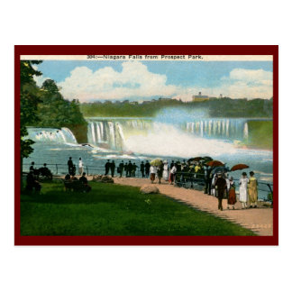 Parque de la perspectiva, vintage de Niagara Falls Postales