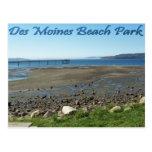Parque de la playa de Des Moines (marea hacia fuer Postales
