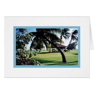 Parque de la playa de la Tarjeta-Poipu, Kauai, Haw Tarjeta De Felicitación