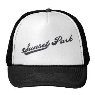 Parque de la puesta del sol gorras de camionero