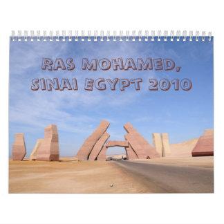 Parque de la reserva natural de Ras Mohamed Sinaí Calendario De Pared