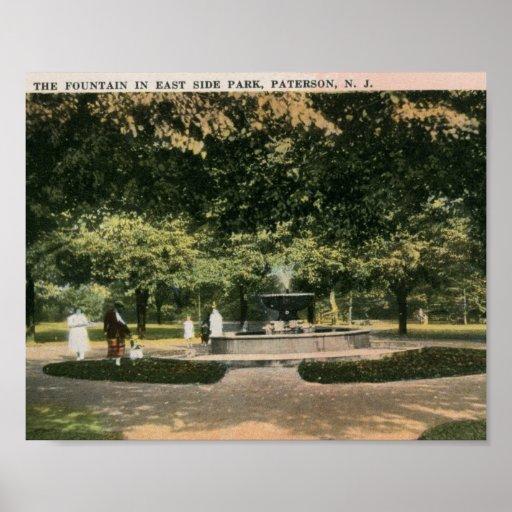 Parque de la zona este, Paterson, vintage de New J Póster