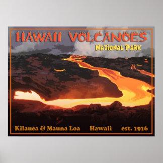 Parque de Nationa de los volcanes de Hawaii Póster