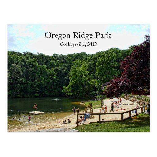 Parque de Oregon Ridge Tarjeta Postal