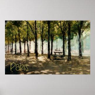 Parque de París en DES Champs-Elysees de la Póster