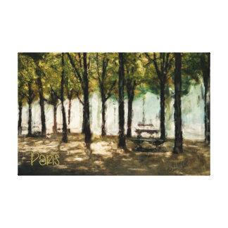 Parque de París en lona del DES Champs-Elysees de Impresión En Tela
