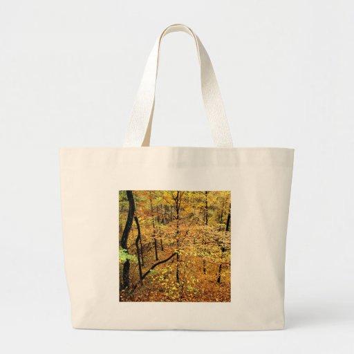 Parque de Percy Warner del bosque del otoño Bolsa Tela Grande