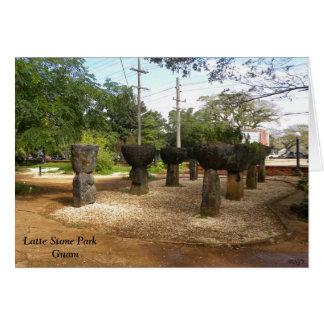 Parque de piedra Guam de Latte Felicitaciones
