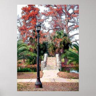 Parque de piedra New Orleans de la ciudad del puen Posters