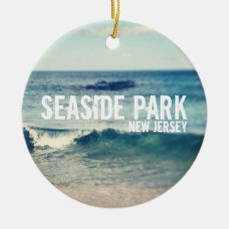 Parque de playa - 2013 - recuperación en la orilla adorno redondo de cerámica