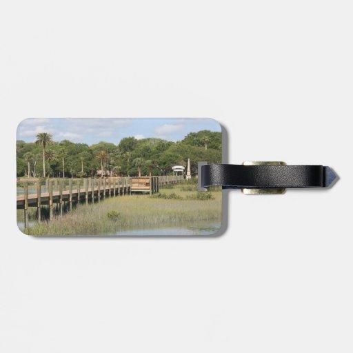 Parque de Ponce de León en el muelle de la Florida Etiquetas Para Maletas