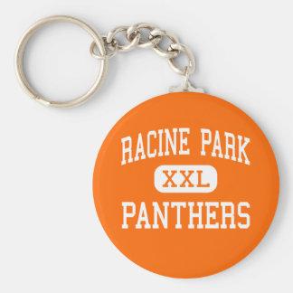 Parque de Racine - panteras - alto - Racine Wiscon Llavero Redondo Tipo Pin