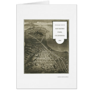 Parque de San Mateo, mapa panorámico de CA - 1905 Tarjeta De Felicitación