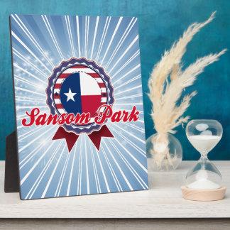 Parque de Sansom TX Placa De Plastico