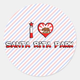 Parque de Santa Rita CA Pegatinas Redondas