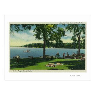 Parque de Shotwell en un día soleado Tarjeta Postal