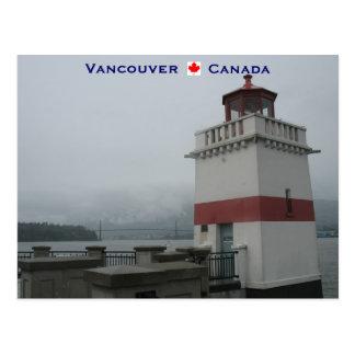 Parque de Stanley del faro Vancouver Canadá Postales