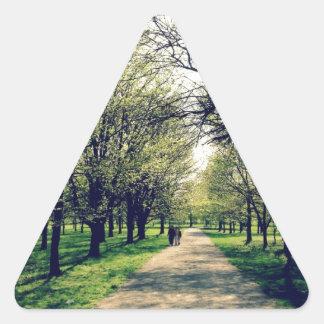 Parque de Tom Sawyer, Louisville Pegatina Triangular