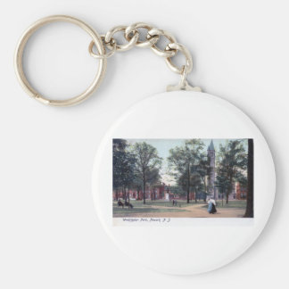 Parque de Washington, vintage 1906 de Newark NJ Llavero Redondo Tipo Pin
