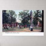 Parque de Washington, vintage 1906 de Newark NJ Poster