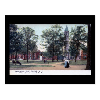 Parque de Washington, vintage 1906 de Newark NJ Postales