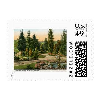 Parque de Washington, vintage de Portland, Oregon Franqueo
