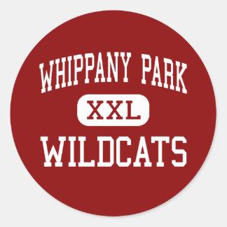 Parque de Whippany - gatos monteses - alto - Etiqueta Redonda