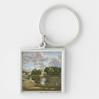 Parque de Wivenhoe, Essex, 1816 Llavero Cuadrado Plateado