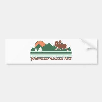 Parque de Yellowstone Etiqueta De Parachoque