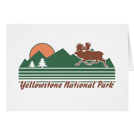 Parque de Yellowstone Tarjeta De Felicitación