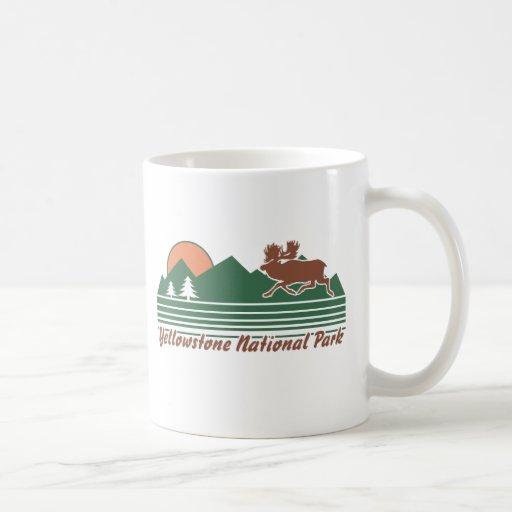 Parque de Yellowstone Tazas De Café