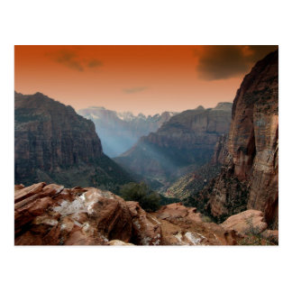 Parque de Zion, paisaje asombroso de la naturaleza Tarjetas Postales