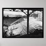 Parque del béisbol de Fenway en Boston, mA 1912 Póster