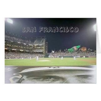 Parque del béisbol, San Francisco Tarjeta De Felicitación