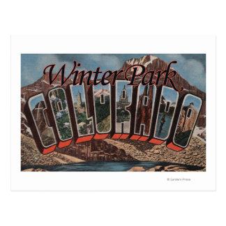 Parque del invierno, Colorado - escenas grandes de Postales