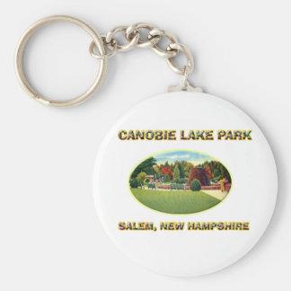Parque del lago Canobie Llavero Redondo Tipo Pin