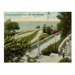Parque del lago, vintage de Milwaukee Tarjeta Postal