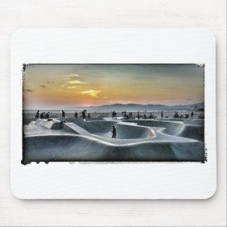 Parque del monopatín de la playa de Venecia Tapetes De Ratones