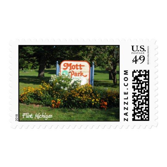 parque del mott, pedernal, Michigan Sello Postal