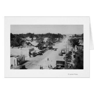 Parque del océano, WA - vista de la playa, coches  Tarjeta De Felicitación