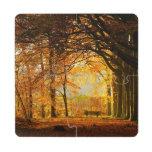 Parque del otoño posavasos de puzzle