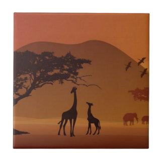 Parque del safari teja  ceramica
