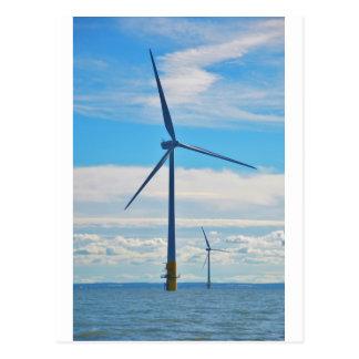 Parque eólico costero postales