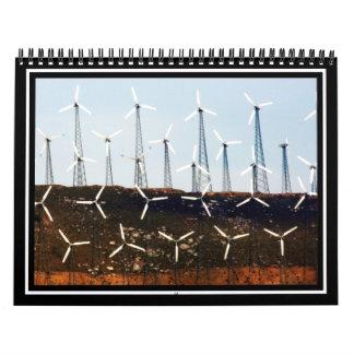 Parque eólico de Tehachapi Calendario De Pared
