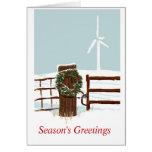 Parque eólico del navidad tarjetas