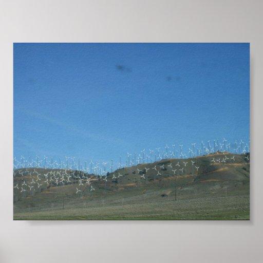 Parque eólico en California Impresiones