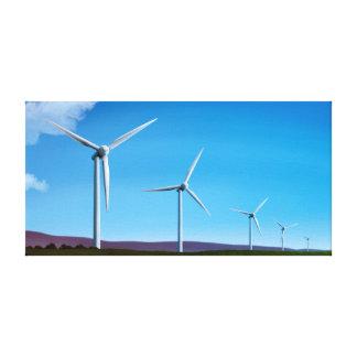 Parque eólico - lona estirada arte 12x24 del poder
