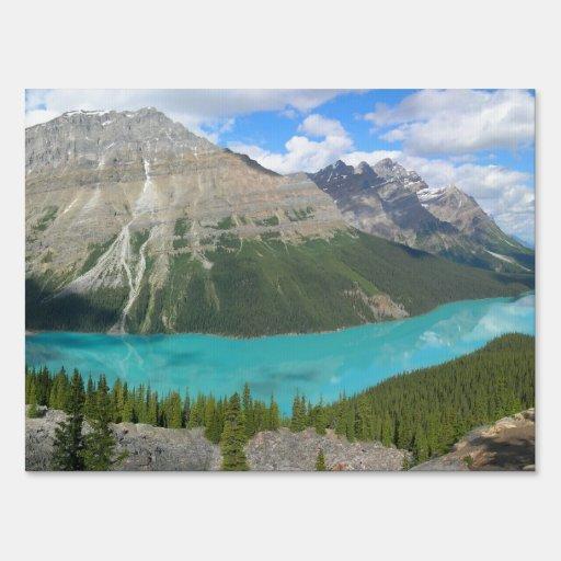 Parque glacial Alberta Canadá de Banff del lago Pe